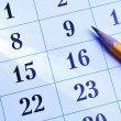 Pencil on calendar — Stock Photo #32009329