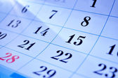 Calendar dates — Stock Photo