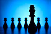 King and pawn chess pieces — Stock Photo