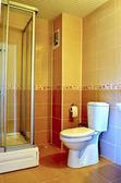 Interior of a modern tiled bathroom — 图库照片