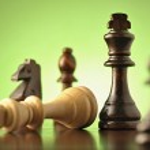 Strategic game of chess — Stock Photo