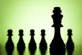 King and pawns — Stock Photo