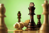 Chess, a game of skill and planning — Stock Photo