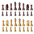 Complete chess set — Stockfoto