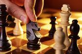 Mans strony gry w szachy — Zdjęcie stockowe