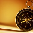 Brass magnetic compass — Stock Photo
