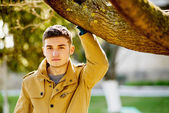 Young happy man outdoors — ストック写真