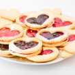 Shortbread cookies with jam — Stock Photo