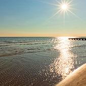 Reflection of the sun on the sea — Stok fotoğraf