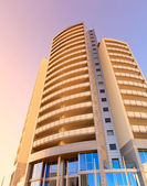Skyscraper in Jesolo beach - Italy — Stock Photo