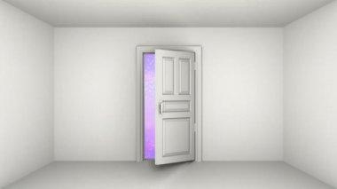 Door to galaxy — Stock Video