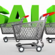 Stockvideo: Supermarket trolley. Sale.