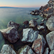 Rocky coast at Lake Baikal — Stock Photo