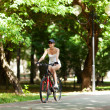 Stock Photo: Bicycling