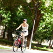 Cycling in the park - Stock Photo