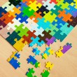 Colorful puzzles - Stock Photo