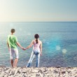 Young couple on the beach — Stock Photo