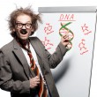 Stock Photo: Crazy professor