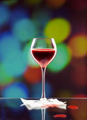 Glass of blood — Stock Photo