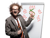 Crazy professor — Stockfoto