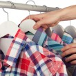 Stock Photo: Choosing shirt