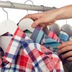 Choosing a shirt — Stock Photo
