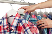 Choosing a shirt — Stock Photo