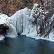Frozen Waterfall — 图库照片