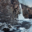 Winter waterfall - Stock Photo