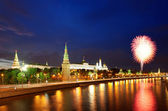 Fireworks over the Moscow Kremlin — Stock Photo