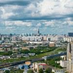 panoramablick auf moskau stadt — Stockfoto