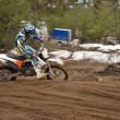 MX rider leaves the track grooves — Stock Photo #14262423
