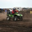ATV cross rider in the movement as the crow flies racetrack — Stock Photo #14375225