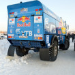 Truck for rally-raid team KAMAZ MASTER, shot from behindt — Stock Photo #14400377