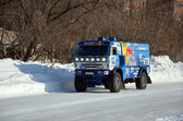 Truck the KAMAZ MASTER on a straight road — Stock Photo