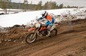Mx racer kökenli motocross parça rides — Stok fotoğraf