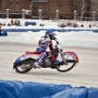 Ice speedway turnabout on the rear wheel — Stock Photo