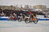 Speedway invernale sul ghiaccio, inizio — Foto Stock