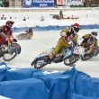 Ice speedway to compete in the bend treka race participants — Stok fotoğraf