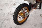 Motocross motorcycle wheel with thorns — Foto de Stock