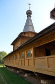Lateral wall the wooden Christian church — Stock Photo