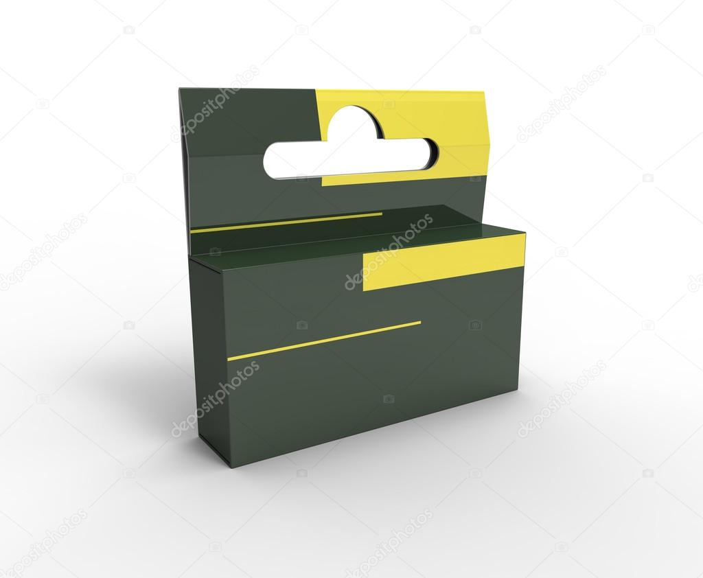 3d render of box for advertising on the plane — Stock Photo #12270441