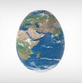 Globe in the shape — Stock Photo