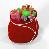 Bag with gifts — Stock Photo