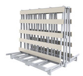 Stand rack storage — Stock Photo