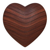 Wooden heart — Stock Photo