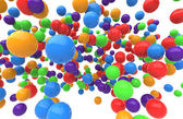 Balls on a white background — Stock Photo