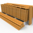 Stock Photo: Wooden stack