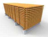 Dřevěný zásobník — Stock fotografie