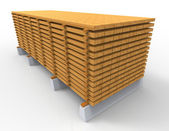 Wooden stack — Stock Photo